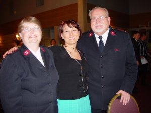 A candid shot of Mom and Dad with my sister Sherry Blees.