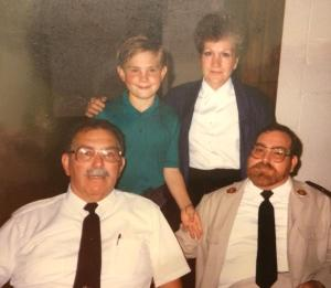 My Grandmother Louise, Grandfather Stanley, Father Dennis and myself