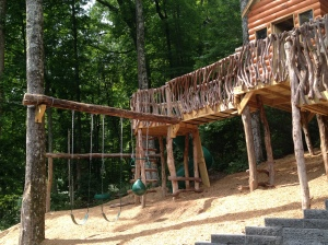 This is the amazing playground that my kids played on for hours while I lounged on the back porch.