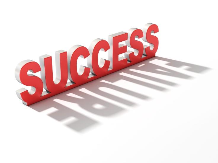 success failure 3d concept